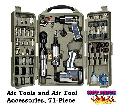 Heavy Duty Air Tool Kit Automotive Hand Tools Impact Wrench Air-Ratchet 71Pc-Set