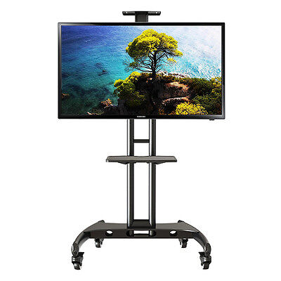 Mobile TV Stand with Lockable Wheels