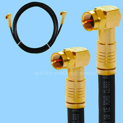 135db Coaxial Cable Black Angle F-Kompressionstecker HDTV Uhd 4k Antenna Cable