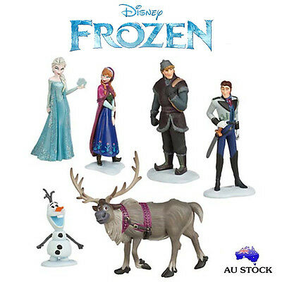 6Pcs Olaf Anna Elsa Kristoff Loose Action Figurines Doll Figure Cake Topper Toy