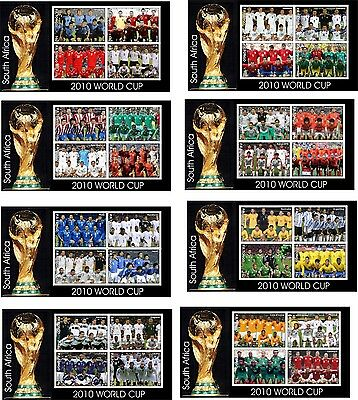 Soccer World Cup Sports 8 Souvenir/s  Mnh Imperforated