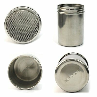 5x(Stainless Chocolate Shaker Icing Sugar Salt Cocoa Flour Coffee Sifter) L3