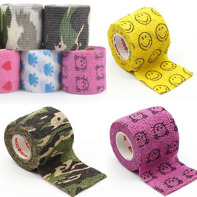 Self-Adhering Bandage Wraps Health Care First Aid Stretch Tape for Human Pet UK