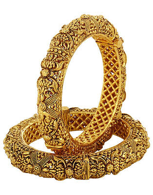 Indian traditional Jewelry bangle bracelet bollywood ethnic gold plated bangles