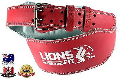 "Lions Fit 6""wide Ladies Pink Split Leather Weightlifting Bodybuilding Gym Belt"