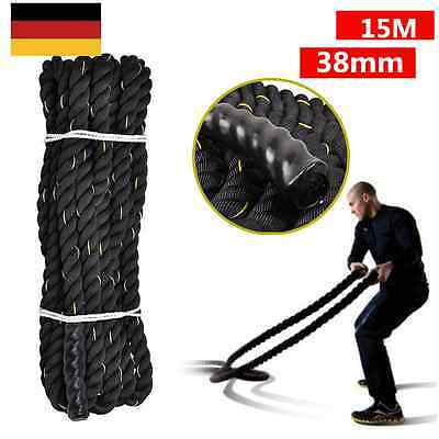 15M Battle Rope Exercice Sport Muscle Corde Ondulatoire Fitness Combat Training