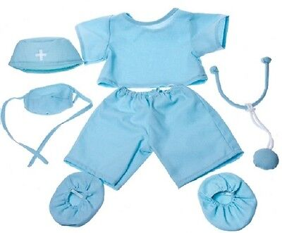 "DOCTOR SCRUBS SIX-PIECE TEDDY OUTFIT FOR 16""/40cm TEDDIES & BUILD YOUR OWN BEARS"