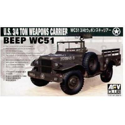 [AFV Club] 1/35 US 3/4 Ton 4x4 Jeep Weapons Carrier BEEP WC51 (BF35S15)