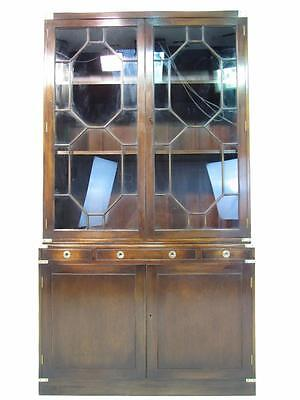 A Stunning Antique Style Mahogany  Military Campaign Bookcase