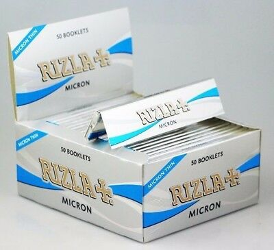 Rizla Micron Silver Thin Slim Kingsize Rolling Papers Booklets - Ultra Thin