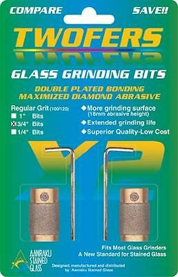 Aanraku Glass Grinding Bit 3/4 Inch Twofers Stained Glass Mosaic Supplies, New,