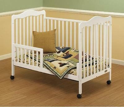 Orbelle Trading Toddler Guard Rail for Emma Crib, White, New, Free Shipping