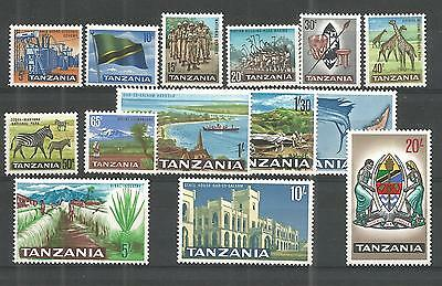 Tanzania 1965 Definitive Set Sg,128-141 U/m N/h Lot 213A