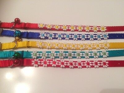 Daisy Flower Design Safety Cat Collar - Different Colours