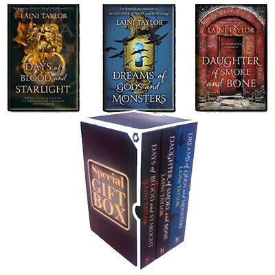 Laini Taylor Daughter of Smoke and Bone Collection 3 Books Gift Wrapped Slipcase