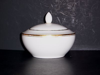 Oxford-Gold Sugar Bowl with Lid by Royal Doulton