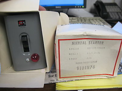Cutler Hammer 9101H76 Manual Starter, NEMA 1, NEW