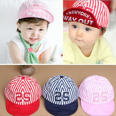 Cotton Toddler Child Baby Infant Boy Girl Beret Sun Cap Striped Baseball Hat