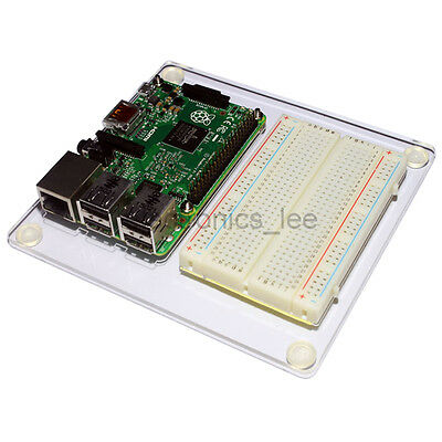 Acrylic Experiment Platform Breadboard Mounting Plate for Raspberry Pi 2 / 3