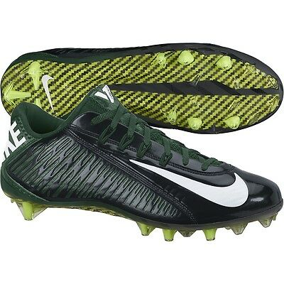 f60feed395d4 New Nike Vapor Carbon Elite TD Football Lacrosse Cleats 13.5 Black Green  Jets