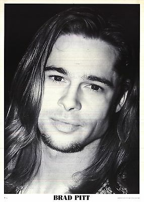 """PINUP POSTER~Brad Pitt Long Hair Interview With the Vampire 25x35"""" NOS UK Orig~"""