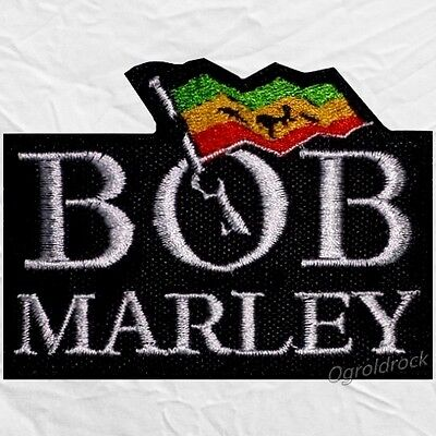 Bob Marley Logo With Flag Embroidered Patch Reggae The Wailers