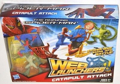 The Amazing Spider-Man Web Launchers Catapult  Attack Ages 4+