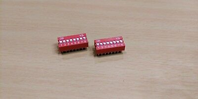 DIP Switch 8 way - 2.54mm - 0.1 Inch PCB (2 Pieces)