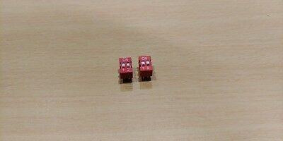 DIP Switch 2 way - 2.54mm - 0.1 Inch PCB (4 Pieces)
