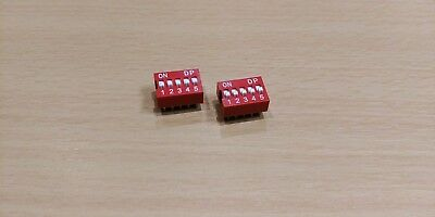 DIP Switch 5 way - 2.54mm - 0.1 Inch PCB (2 Pieces)