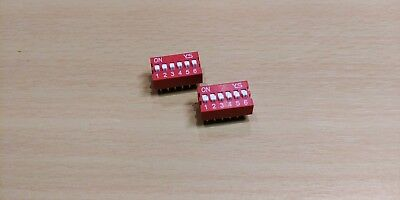 DIP Switch 6 way - 2.54mm - 0.1 Inch PCB (2 Pieces)