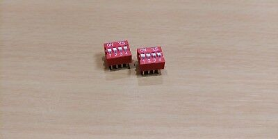 DIP Switch 4 way - 2.54mm - 0.1 Inch PCB (4 Pieces)