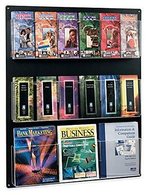 Displays2go Wall Mounted Literature Rack, Hanging with Adjustable Pockets, 29x35