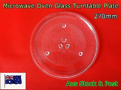 Microwave Oven Glass Turntable Plate Platter 270 mm Suits Many Brand (A115) New