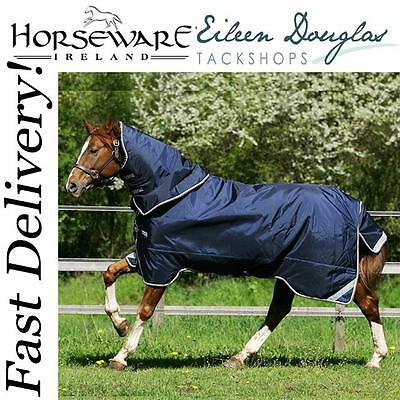 Horseware RAMBO DUO Turnout Combo Liner System All in One Rug Navy/Choc