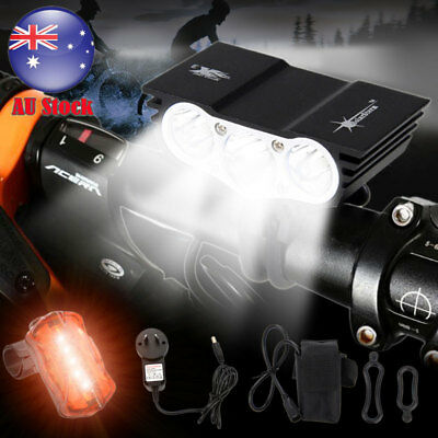 Powerful 20000LM 3X XM-L U2 LED Front Bicycle Light Bike HeadLamp+Battery Pack