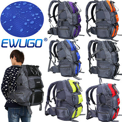 New 50L Outdoor Travel Waterproof Luggage Backpack Rucksacks Camping Hiking Bag