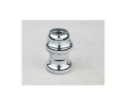 """Silver Polished 1"""" (22.2mm) Alloy Cartridge Ball Bearing Threaded Headset Vintag"""