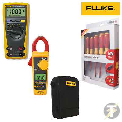 Fluke 179 True Rms Digital Multimeter | 325 Clamp Meter | Wiha Screwdriver Set