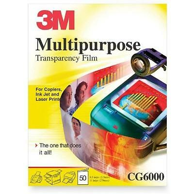3M Multipurpose Transparency Film, New, Free Shipping