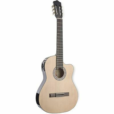 Stagg C546TCEN Natural Electro-Acoustic Classical Guitar Cutaway & 4-band EQ New