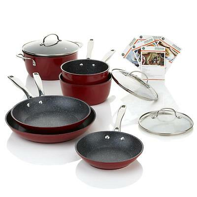 Curtis Stone DuraPan Nonstick Cookware 9 Piece Set Forged