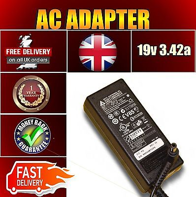 For Toshiba 19V 3.42A Ac Laptop Adapter Power Supply Uk