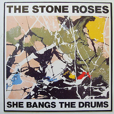 """The Stone Roses - She Bangs The Drums - 1989 12"""" With Misprinted Label (VG+/VG+)"""