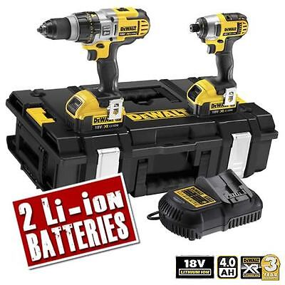 DEWALT DCK290M2 18v XR Li-ion 4.0Ah Cordless 2 Piece Pack (3 Speed Drill)