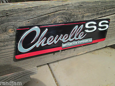 CHEVROLET CHEVY CHEVELLE SS EMBOSSED  METAL SIGNS MAN CAVE SHOP GARAGE Cool!