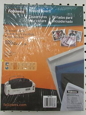 "Fellowes CRC 52227 Black Thermal Binding Covers - 10 Pack (1/8"")"