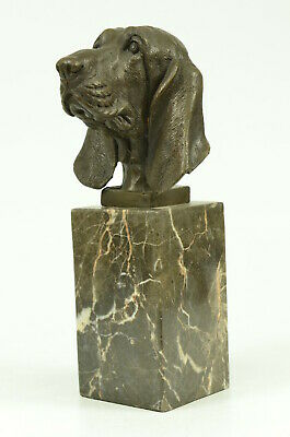 Saint Bernard Head Bust Bookend Book End Bronze Sculpture Handmade Figure