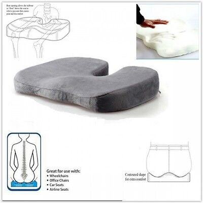 Orthopedic Pillow Seat Cushion Comfort Home Office Coccyx Memory Foam Car Travel