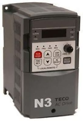Teco Drive N3-407-C Vfd Ac Variable Speed Drive 7.5Hp/13A 3 Phase 460V In/ Out